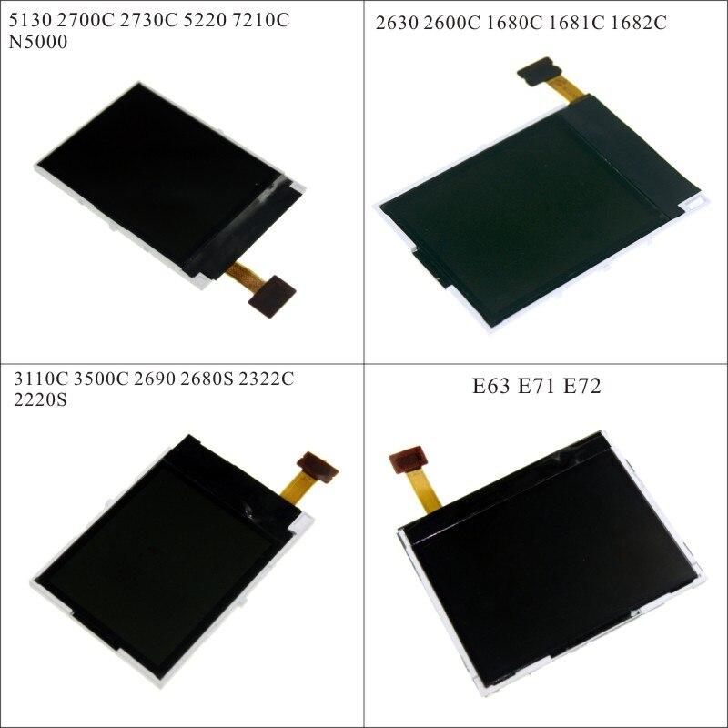 LCD de réparation de remplacement d'affichage pour Nokia 2630 2600C 1680C 3110C 3500C 2690 2322 5130 2700C 2730C E63 E71 E72 + tournevis outils