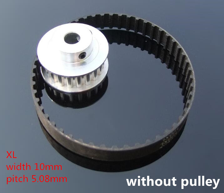 Differet Lenght XL Rubber Synchronous Wheel Belt 10mm Width Rubber Driving Belt Timing Belt Wheel