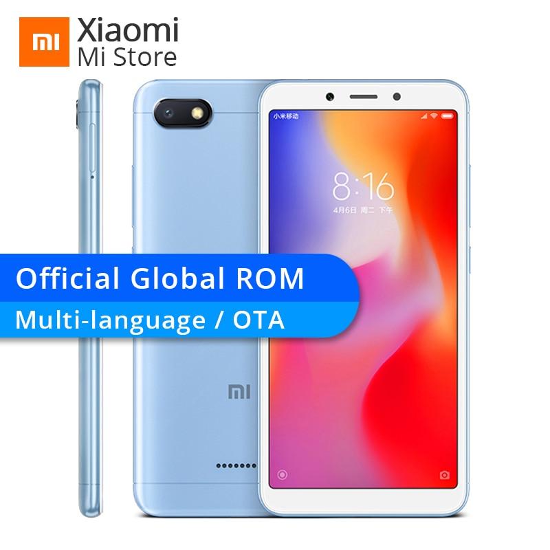 """Global Rom Xiaomi Redmi 6a 2gb 16gb 6 A Helio A22 Cpu Mobile Phone 13.0mp Rear Camera 3000mah 5.45"""" 18:9 Full Screen 1440*720"""