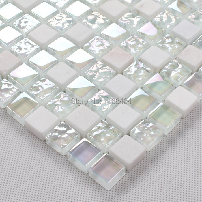 Shining White Color Crysta Gl Mosaic Tiles Square For Fireplace Kitchen Backsplash Tile Bathroom Shower Home Improvement In Wall Stickers From