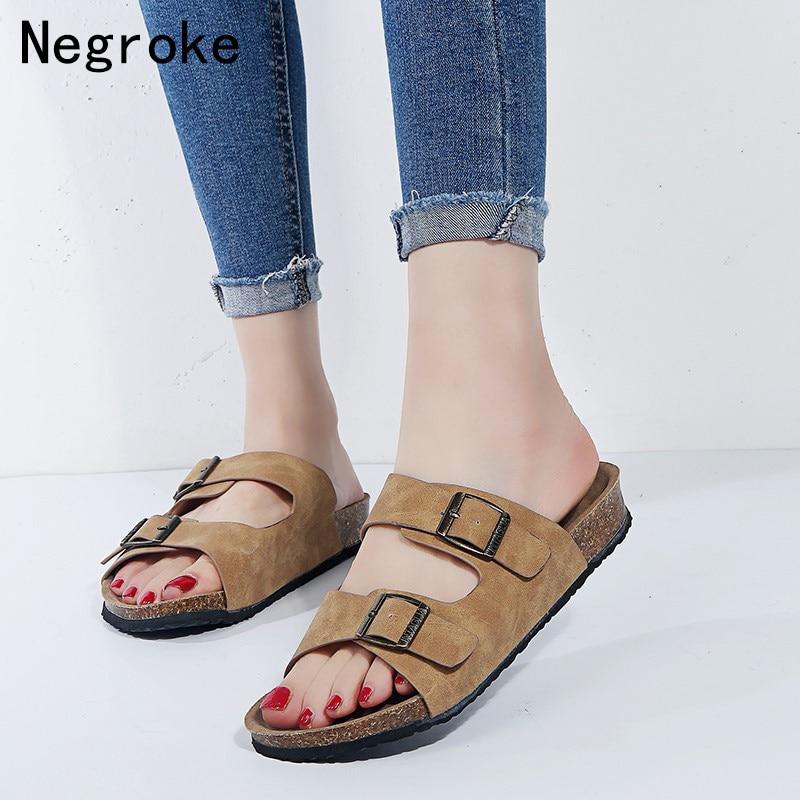 Frauen Schuhe Lasperal 2019 Frauen Sandalen Flip-flops Wohnungen Neue Sommer Mode Keile Schuhe Frau Slide Sandale Dame Casual Weibliche Größe 43 # Hot