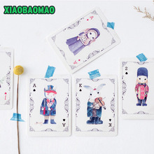 Buy card korean and get free shipping on aliexpress 30 pcs lot korean style novelty cute rabbit poker postcard greeting card christmas card birthday m4hsunfo
