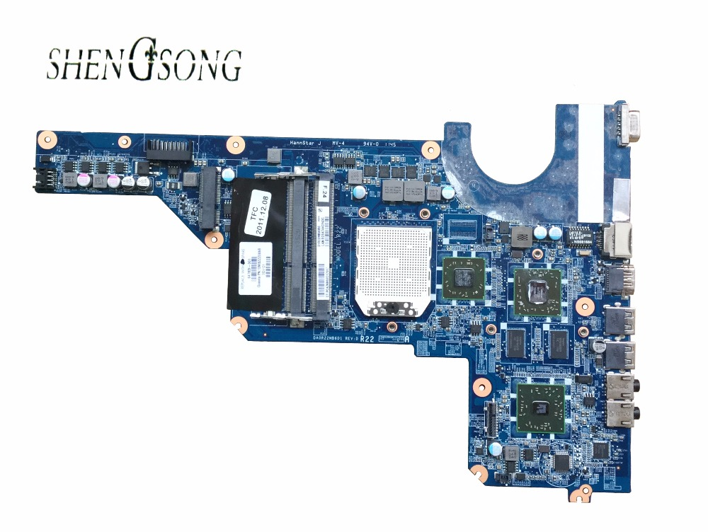 638855-001 mainboard 647627-001 for HP Pavilion G4 G6 G7 laptop motherboard DA0R22MB6D0, 100% tested OK цена