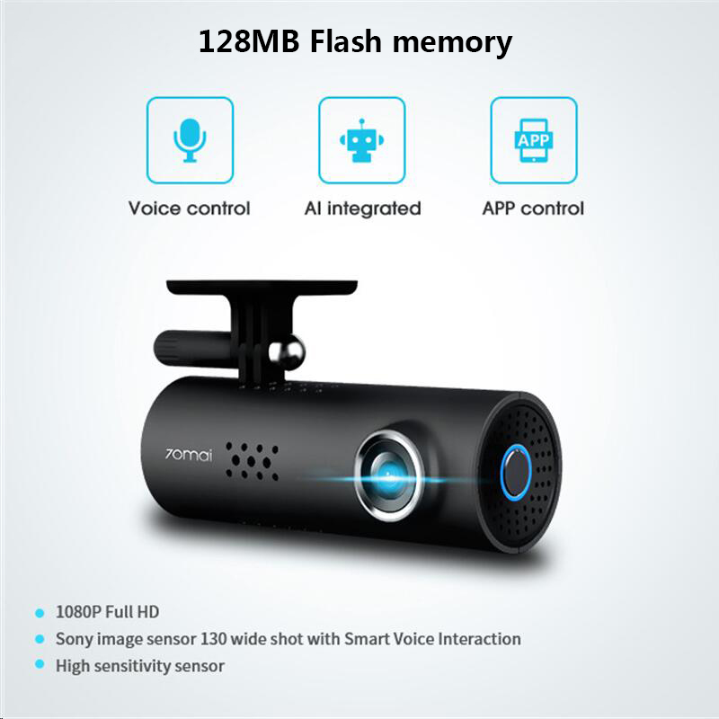 En stock! XiaoMi 70Mai 70 Minutes Smart dvr de voiture RU/EU/US Version 1080 P Sans Fil Dash Cam 130 Degrés Large angle IMX323 VoiceControl - 2