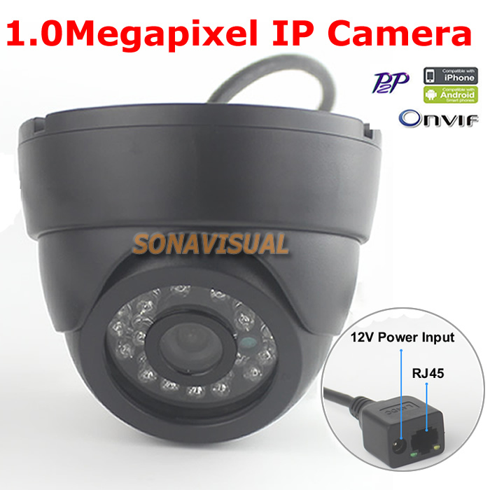 Dome 1 0MP IP font b Camera b font 720P Wired Support Onvif P2P H 264