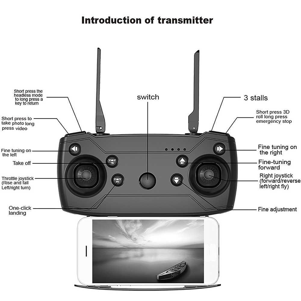 X12 X12S WiFi FPV Радиоуправляемый Дрон с 0.3MP/1080 P/4 K HD Двойная камера оптический поток RC Квадрокоптер для игрушек Kid Dron vs SG106 Visuo xs816