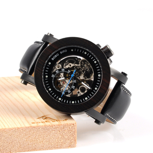Image 4 - 보보 버드 우드 시계 남자 빈티지 청동 해골 남성 골동품 steampunk 자동 기계식 시계 relogio masculino W K10