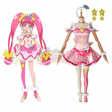 Anime Star Twinkle Precure Pretty Cure Cure Star Hoshina Hikar Cosplay adult costume custom made full set without shoes(China)