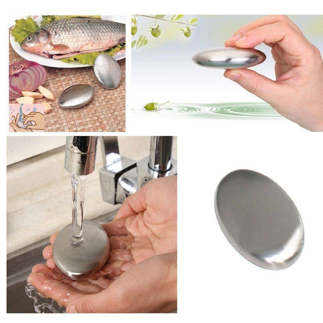 1Pc Chef Soap Stainless Steel Hand Odor Remover Bar Magic Soap ElimInates Garlic/onion Etc Smells Kitchen Gadgets Kitchen Tool