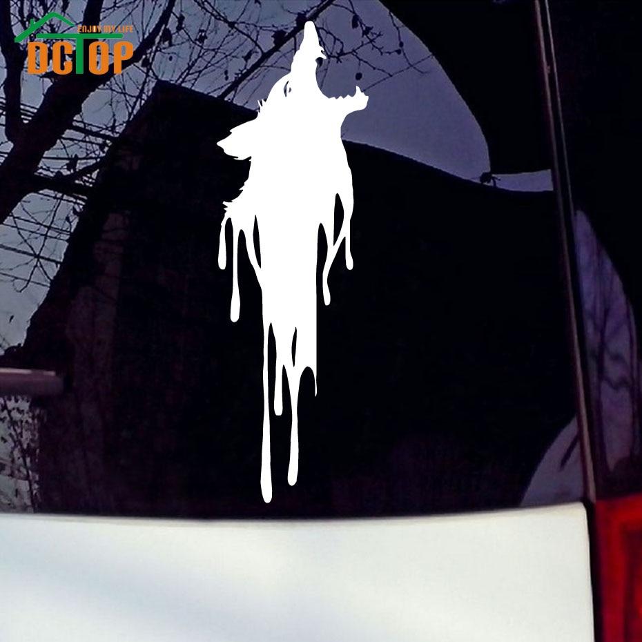 Car sticker design online - Wolf Werewolf Vinyl Decals Car Sticker Gory Wolf Head Art Design Removable Car Styling Sticker