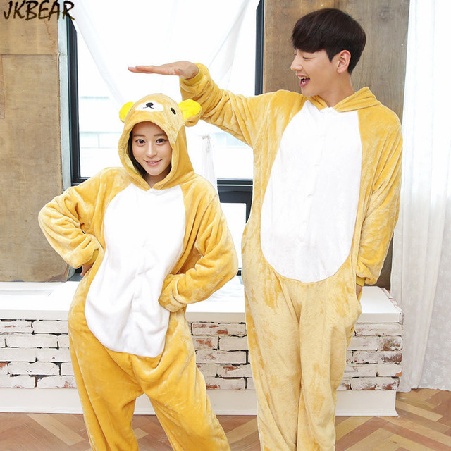 Cute Care Bear Onesies for Teenagers and Adults Flannel Funny Animal  Costume Couples Matching Onesie Pajamas