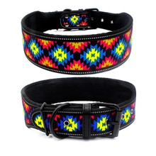 Reflective Nylon Dog Collar Adjustable Pet Collars For Medium Large Dogs Pitbull German Shepherd Fashion