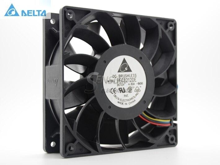 Delta PFC1212DE 120*120*38 mm 12038 1238 12CM DC 12V 4.80A server inverter cooling fan