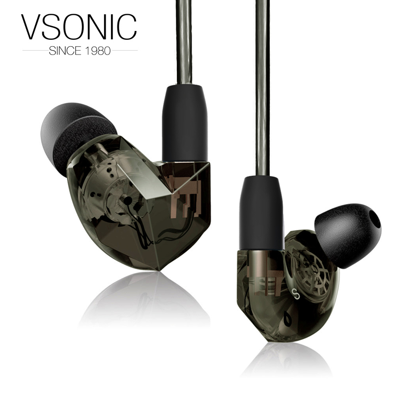 VSONIC NEW VSD3S Earphones Professional Noise-isolation HIFI Inner-Ear Earphone Stereo Bass Enhanced vsonic vsd1si with microphone vsd1s professional noise isolation hifi earphones earbuds headset