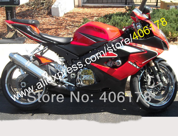 Hot Sales,Custom fairing Kit For SUZUKI GSXR 1000 2005 2006 GSX R 1000 05 06 K5 Red black motorcycle parts (Injection molding) hot sales for bmw k1200s parts 2005 2006 2007 2008 k1200 s 05 06 07 08 k 1200s yellow bodyworks aftermarket motorcycle fairing