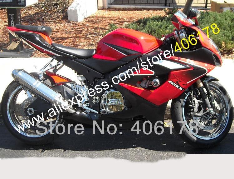 Hot Sales,Custom fairing Kit For SUZUKI GSXR 1000 2005 2006 GSX R 1000 05 06 K5 Red black motorcycle parts (Injection molding)