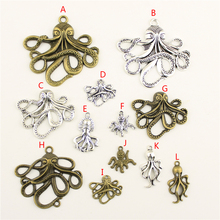 20Pcs Wholesale Bulk Supplies For Jewelry Materials Octopus Creative Handmade Birthday Gifts Charms Making HK089