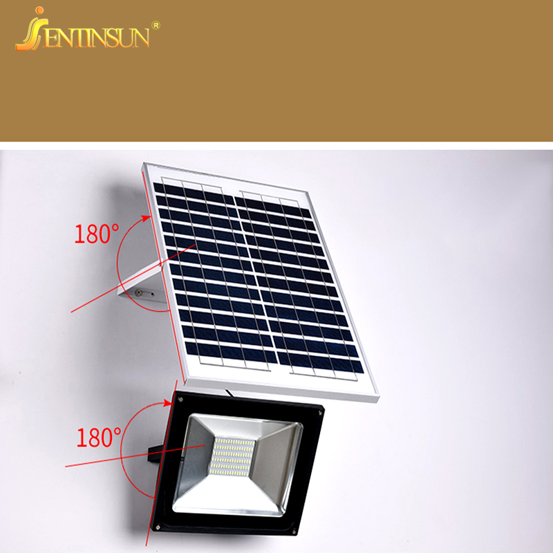 New Solar Panel Light 50w 30w 20w Remote Control Sensor Led Lamp Waterproof Outdoor Street Lighting Garden Lights In Lamps From