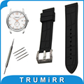 21mm 22mm 23mm 24mm Silicone Rubber Watch Band + Tool for Hamilton Stainless Steel Carved Pre-v Buckle Strap Wrist Belt Bracelet