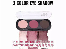 10styles Professional Makeup Eyeshadow 3 Colors Palette 100% Brand New Novo Shimmer Matte Eye Shadow Palette Silky Pigment