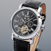 JARAGAR Full Calendar Tourbillon Auto Mechanical Mens Watches Top Brand Luxury Wrist Watch erkek kol saati Montre Homme