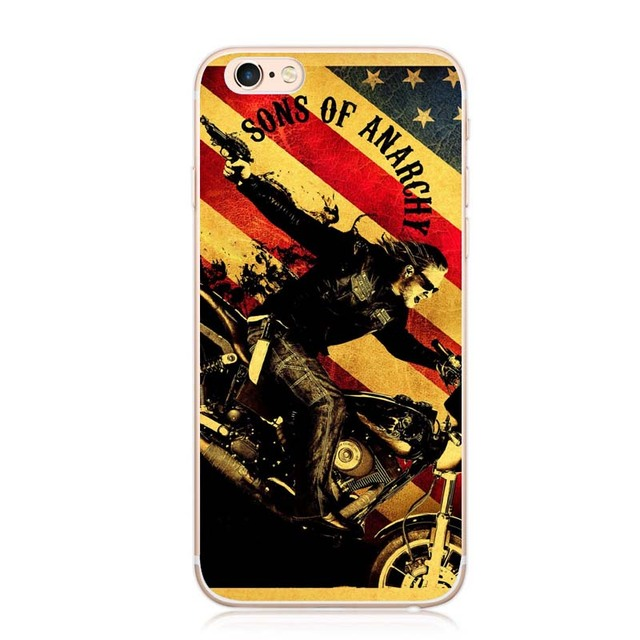 Sons Of Anarchy For iPhone 7 7 Plus  5s 5  SE 6 6s Cover Hard Plastic Case