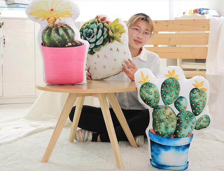 Dolls & Stuffed Toys Stuffed & Plush Plants United Simulation The Stone Flower Succulent Plants Green Plant Pillow Double-sided Printing Cactus Pillow Plush Toy