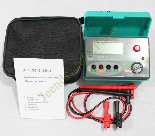 Electrical equipments DY30-3 Digital Insulation Resistance Tester Megger Megohmmeter Down to 15V mastech ms5215 high voltage digital insulation resistance tester megometro megger 5000v 3ma temp 10 70c