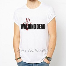 The Walking Dead White Printed T-Shirt