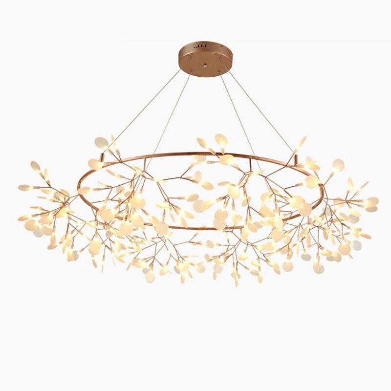 Креативный арт дизайнер люстра огни дерево лист Винтаж светодио дный светодиодные подвесные лампы внутреннего освещения светильники подв