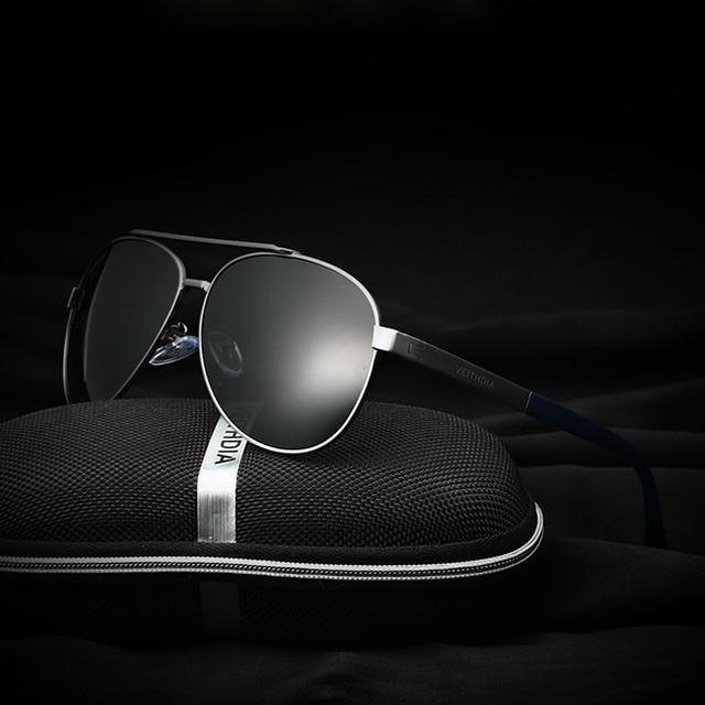 VEITHDIA Brand Best Alloy Men's Sunglasses Polarized Lens Driving Fishing Eyewear Driving Sun Glasses For Men 3585