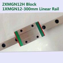 MR12 12 мм линейная направляющая MGN12 Длина 300 мм с 2 шт. линейный блок каретки mgn12h миниатюрный линейный motion руководство путь для cnc