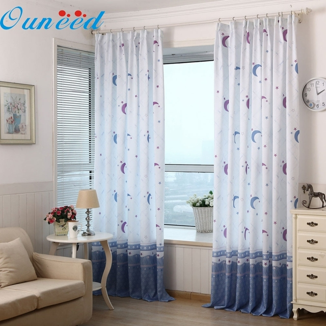 Ouneed TOP Grand Country Style Tulle Window Roman Shades Window Curtain  Blinds Voile Curtains Living Room