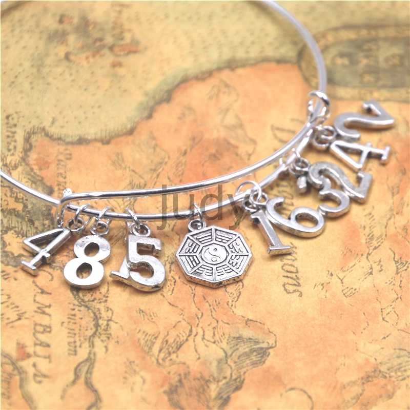 Engraved Silver Bar Chain Bracelet Lost Dharma Initiative