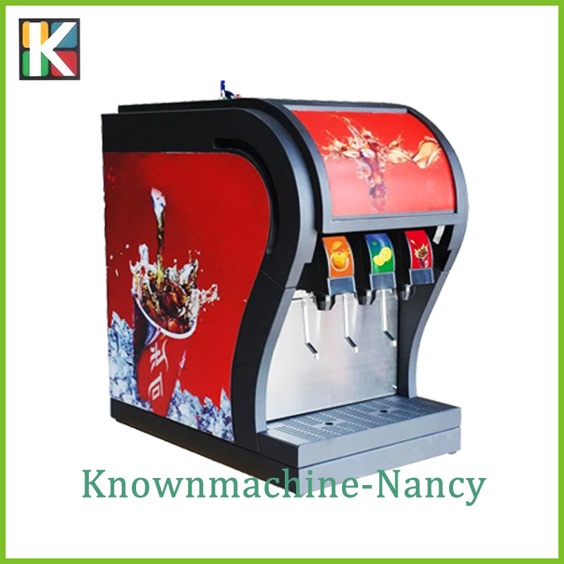 Commerical use 3 flavor soda filling machine/soda fountain dispenser/coke fountain dispenser