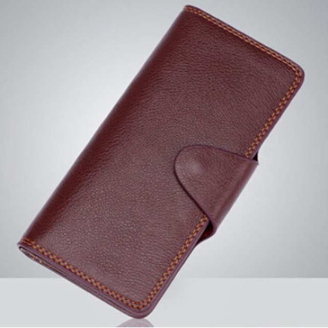 Supreme Fire Wallet  (Brown leather, Long) - magic trick, accessories,gimmick,wallet magic,card magic,mentalism