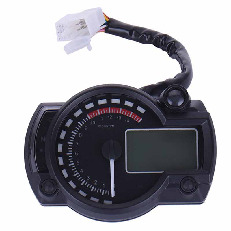 Universal LCD Digital Motorcycle Speedometer 15000rpm Dual Color Motorcycle Speedometer Tachometer Odometer Gauge For motorcycle