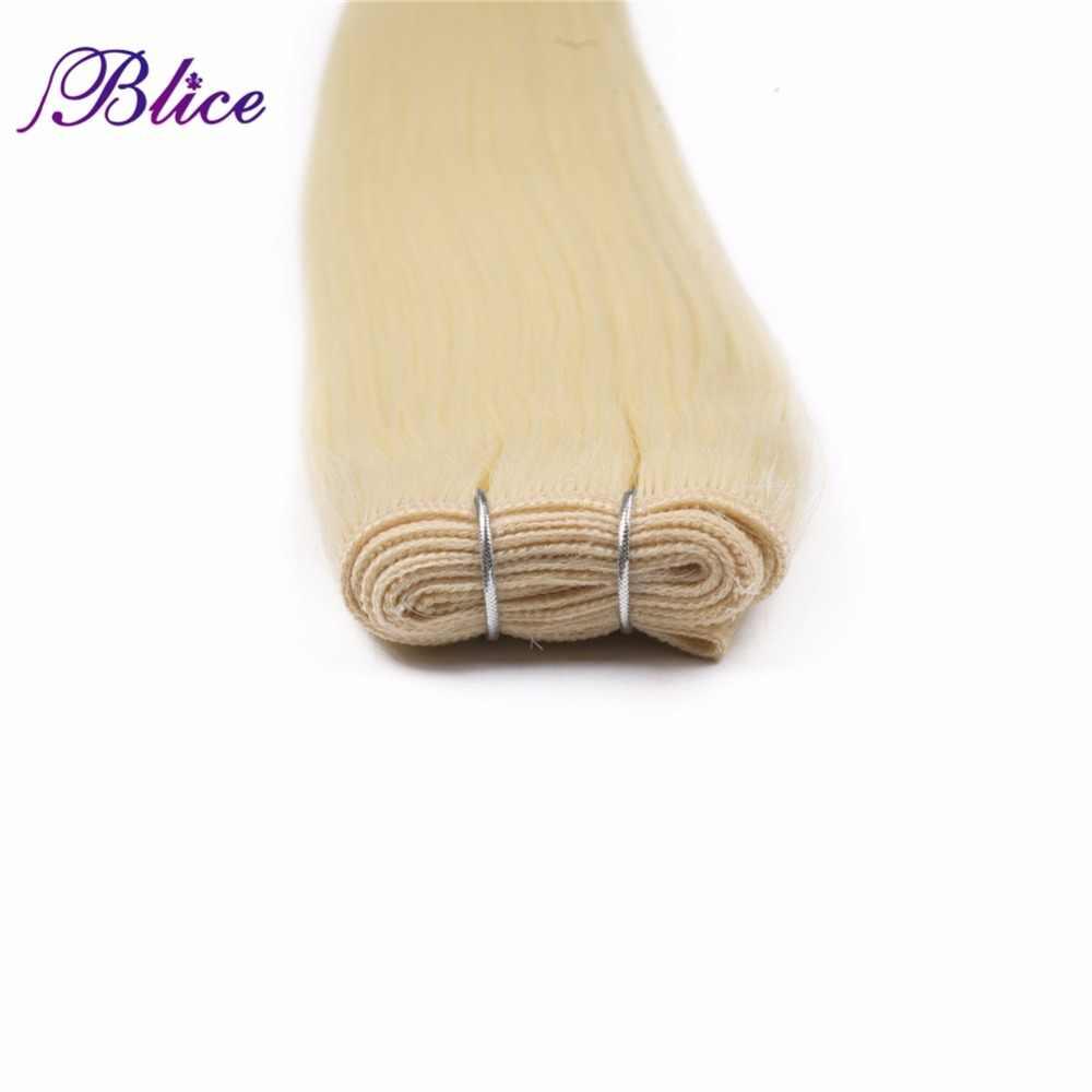 Blice синтетические волосы для наращивания 3 шт./лот 24 дюйма Прямые волосы Yaki ткачество длинные 100 г/шт. доступны все цвета