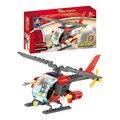 83 pçs/set Assemblage Educacionais DIY Blocos de Construção De Helicópteros de Combate A Incêndios Crianças Crianças brinquedo de Presente de Aniversário Festival