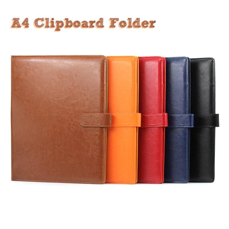 A4 clipboard pasta portfólio multi-função organizador de couro robusto gerente de escritório clipe almofadas de escrita contrato de papel legal