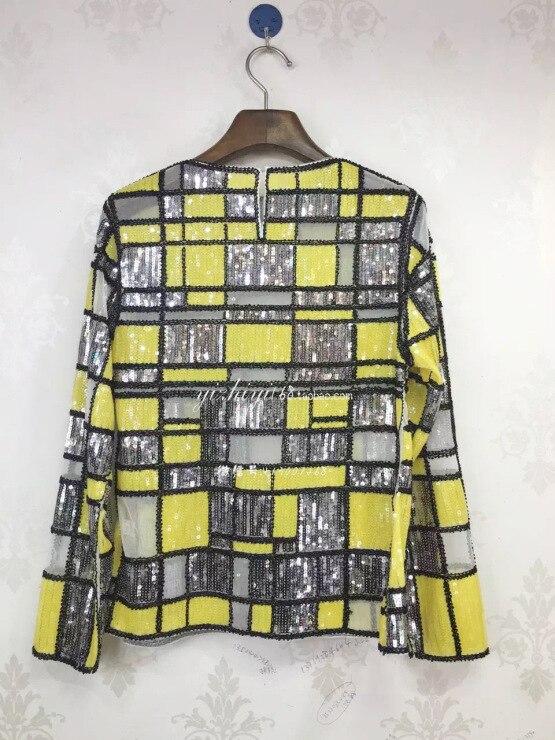 VANOVICH/Модная кружевная рубашка с расклешенными рукавами, с вырезом лодочкой, блузки и топы, женская летняя и весенняя Новинка 2019, женская оде... - 3