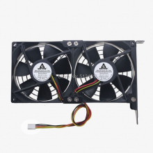 Dual Fan CPU Cooling Heatsink Ultra-quiet Desktop Computer Chassis PCI Graphics Card Cooler 9cm цена и фото