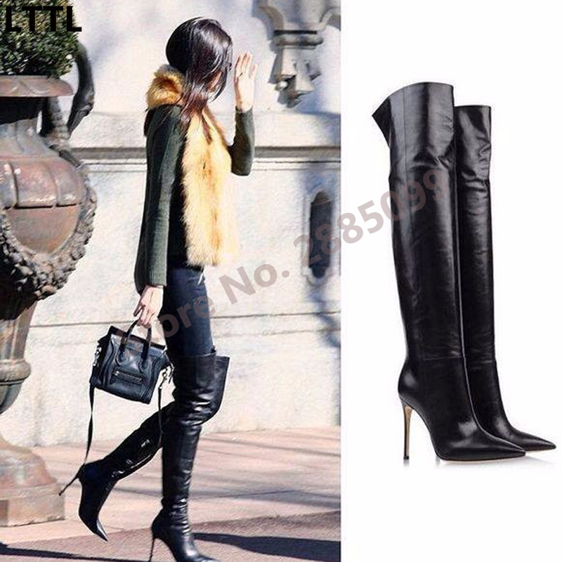 Women Over the Knee Boots High Heel Thigh High Boots Fashion Sexy Women Gladiator Long Boots Street Style