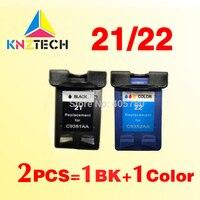 2x чернильные картриджи, совместимые с hp21 22, замена для 21XL 22XL Deskjet 3915 3920 3930v D1530 D1320
