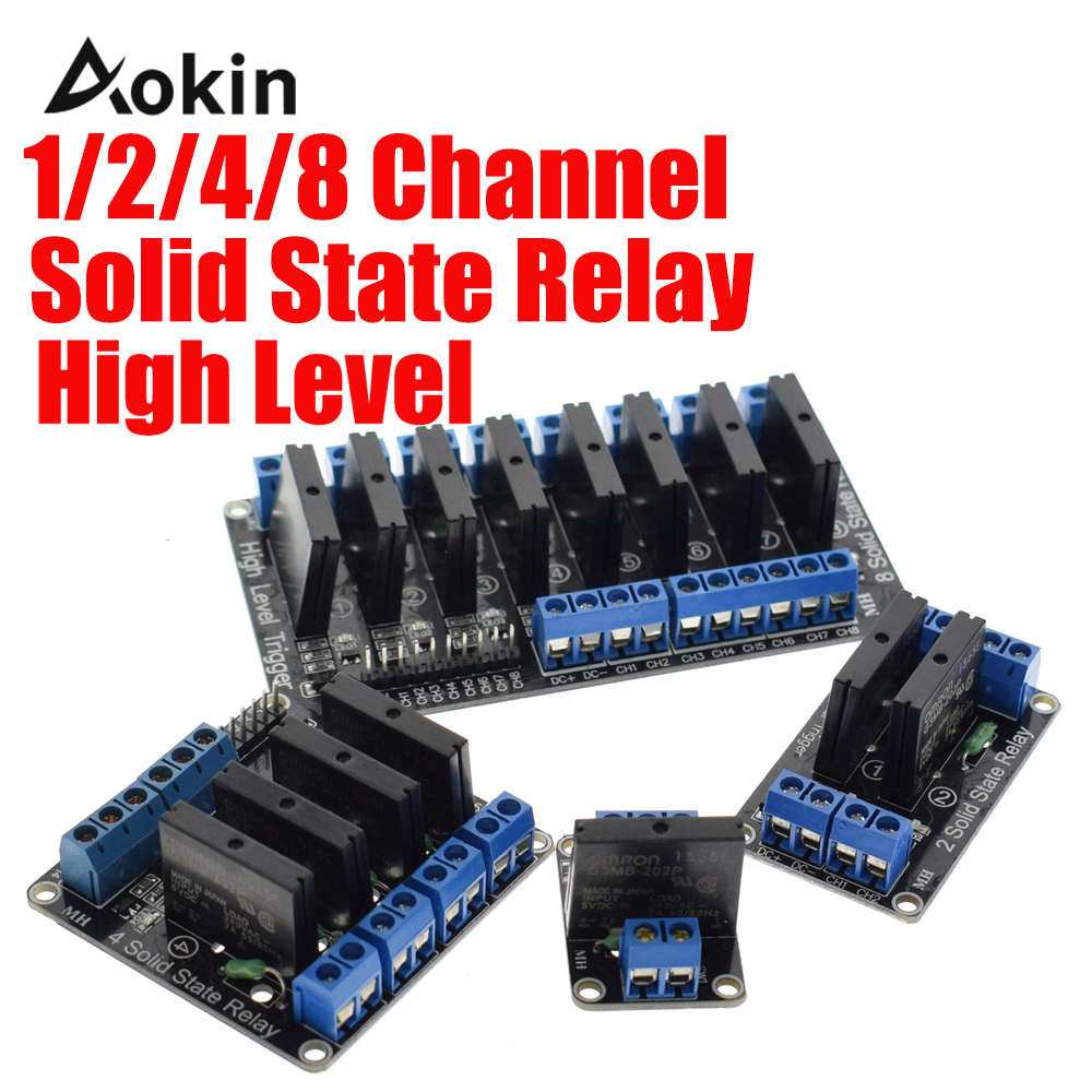1/2/4/8 Channel <font><b>Solid</b></font> <font><b>State</b></font> <font><b>Relay</b></font> <font><b>G3MB</b></font>-<font><b>202P</b></font> <font><b>DC</b></font>-<font><b>AC</b></font> PCB SSR In 5VDC Out 240V <font><b>AC</b></font> 2A for arduino diy kit image