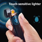 USB lighter Electronic Arc Cigarette Lighter Rechargeable touch screen switch lighter gifts Windproof for men and women