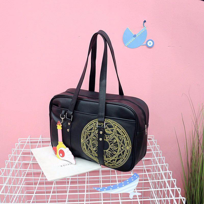 Anime Cardcaptor Sakura Cute Cartoon Embroidery Sakura Handbag Shoulder Bag Girl Sakura Magic Array Crossbody Bag Fine Workmanship Novelty & Special Use