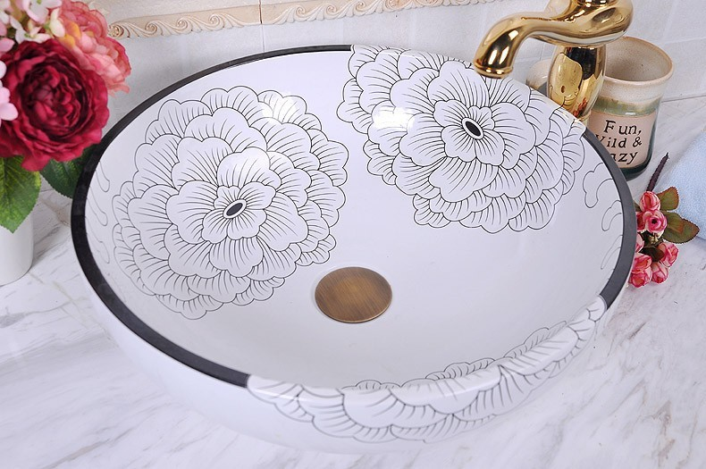 Jingdezhen factory directly art hand painted. Online Get Cheap Painted Ceramic Sink  Aliexpress com   Alibaba Group