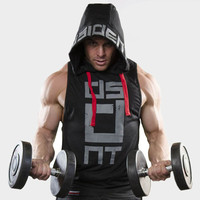 Hip Hop marca bodybuilding Stringer Camisetas de tirantes Sudaderas sportwear Tank Tops fitness hombres gyms ropa sin mangas con capucha