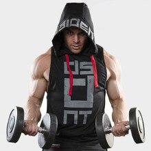Hip hop Brand Bodybuilding Stringer Tank Tops Hoodies Sportwear Tanktops Fitness Men gyms Clothing sleeveless with hoodie